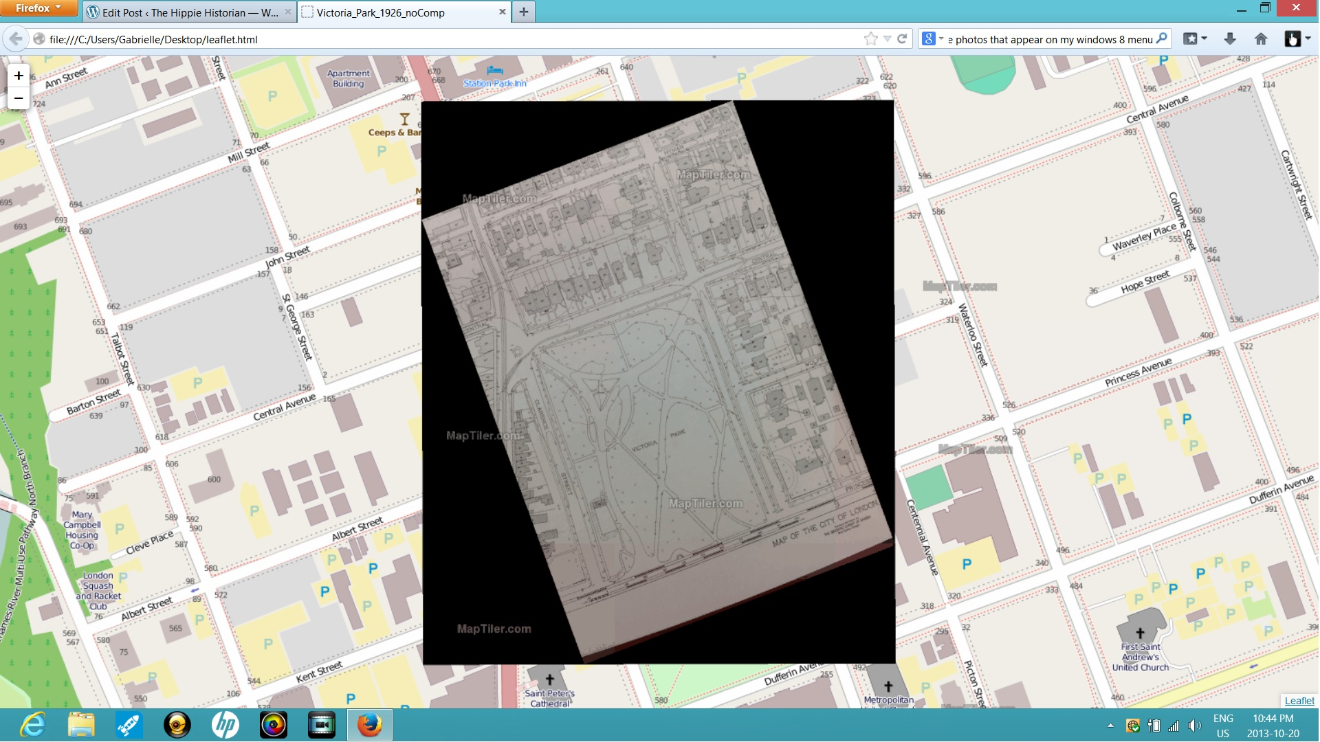 Map Tiler: A Whole New GIS World – The Hippie Historian