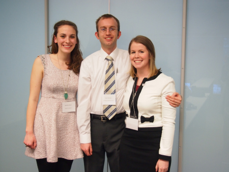 Myself, Joel Sherlock and Jessica Knapp at the York University New Frontiers 2014 Conference.