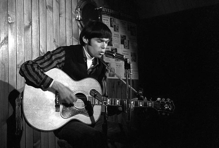 Neil Young playing at The Riverboat in 1965. Manfred Buchheit took this photograph but I got it from theglobeandmail.com