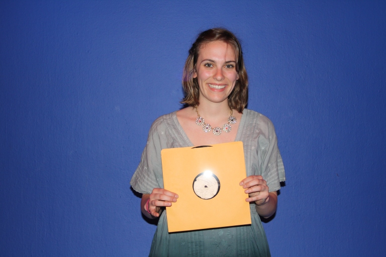 With my Elvis-esque record in hand! Photo Credit: Ryan Mueller