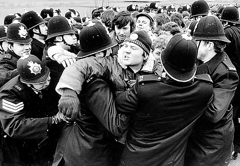 Flash point at Thoresby Colliery on Nottinghamshire in 1984 when what had become a fair tempered dispute between police and miners suddenly erupted into anger when 100 pickets from Yorkshire decided that it was time to show there anger when a collegue named Dave Jones Had been killed